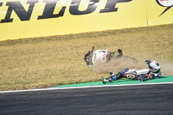 Sturz: #67, Starteam PAM Racing, Suzuki: Kevin Longearet, Jonathan Hardt, Sbeastien Gerard