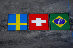 Sauber national flags