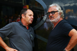 (L to R): Gerhard Berger, with Flavio Briatore