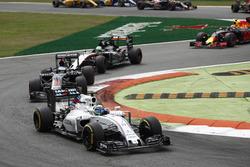 Felipe Massa, Williams FW38 Mercedes; Fernando Alonso, McLaren MP4-31 Honda; Nico Hülkenberg, Force India VJM09 Mercedes