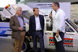 Райнер Браун, Йохи Кляйнт и Патрик Саймон на открытии выставки
