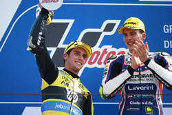 Il secondo classificato Alex Rins, Paginas Amarillas HP 40, il vincitore della gara Lorenzo Baldassarri, Forward Racing