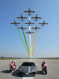 Andrea Dovizioso, Ducati Team, Michele Pirro, Ducati Team e Mirko Bortolotti