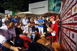 Sebastian Vettel, Ferrari with the media