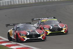 #89 AKKA ASP, Mercedes-AMG GT3: Laurent Cazenave, Daniele Perfetti, Michael Lyons; #87 AKKA ASP, Mercedes-AMG GT3: Maurice Ricci, Jean-Luc Beaubelique, Gilles Vannelet