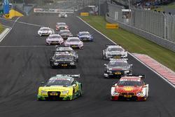 Mike Rockenfeller, Audi Sport Team Phoenix, Audi RS 5 DTM; Augusto Farfus, BMW Team MTEK, BMW M4 DTM