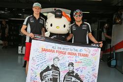Nico Hulkenberg y Sahara Force India F1, Sergio Pérez, Sahara Force India F1 con Hello Kitty