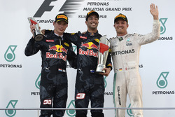 Podium: race winner Daniel Ricciardo, Red Bull Racing, second place Max Verstappen, Red Bull Racing, third place Nico Rosberg, Mercedes AMG F1