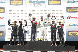 ST Podium: first place #17 RS1 Porsche Cayman: Nick Galante, Spencer Pumpelly, second place #93 HART Honda Civic Si: Chad Gilsinger, Cameron Lawrence, third place #19 RS1 Porsche Cayman: Greg Strelzoff, Connor Bloum