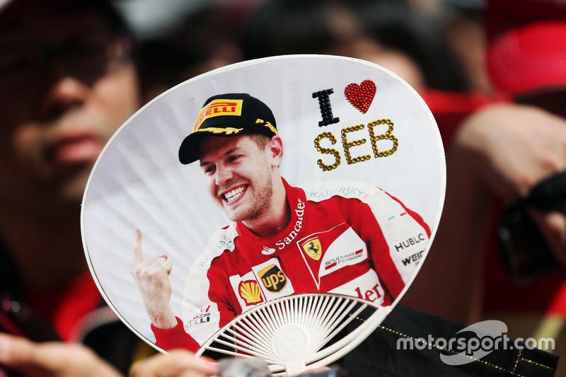 Un fan de Sebastian Vettel, Ferrari