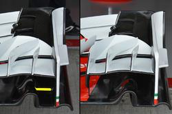 Ferrari SF16-H, diverse configurazioni per l'ala anteriore