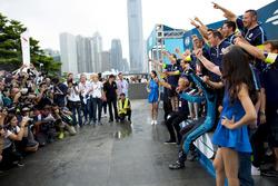 Podio: il vincitore Sébastien Buemi, Renault e.Dams
