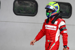Felipe Massa, Scuderia Ferrari with a black arm band on