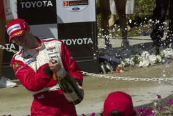 Champagne for race winner Sébastien Bourdais