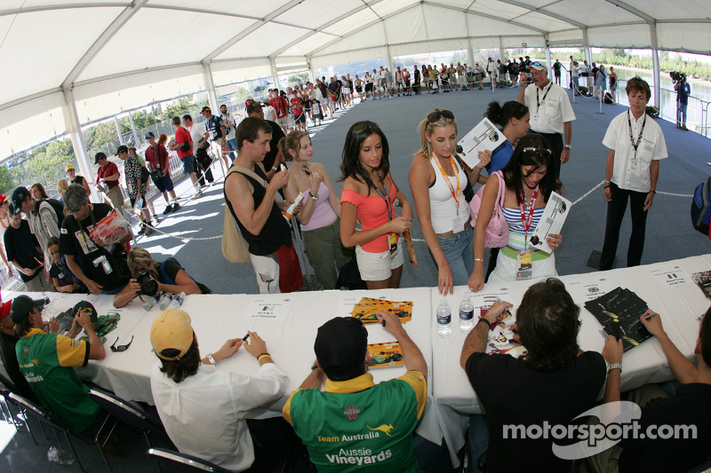 Ambience at the autograph session