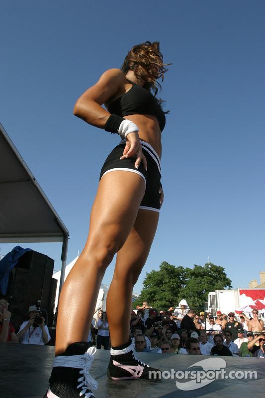 La compétition en habits de sport