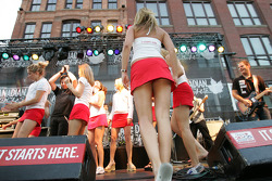 John Street party: Molson Canadian girls join band on stage