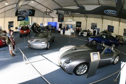 Ford display area: a Ford Shelby concept car
