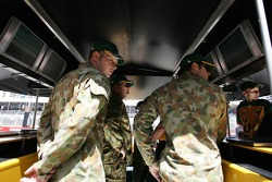 Australian Army checking out the Team Australia setup