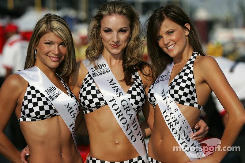 Les jolies gagnantes Miss Grand Prix de Toronto