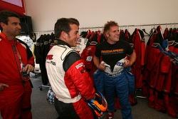 Go-kart celebrity race: Bryan Sellers and Ben Devlin