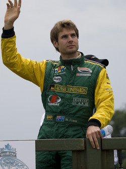 Will Power waves to the fans