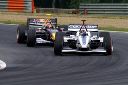 Paul Tracy and Neel Jani battle
