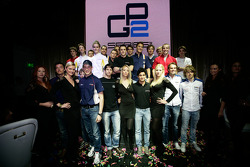 GP2 launch party, Billionaire Istanbul: GP2 drivers on the stage