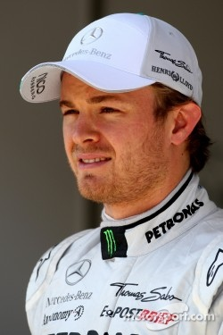 Nico Rosberg in the top three for Mercedes GP