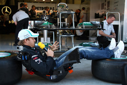 Nico Rosberg, Mercedes GP F1 Team, does a piece to camera