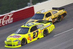 Paul Menard, Richard Childress Racing Chevrolet and David Ragan, Roush Fenway Racing Ford