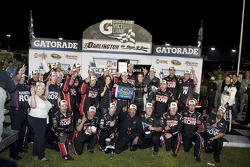 Victory lane: race winner Regan Smith, Furniture Row Racing Chevrolet celebrates