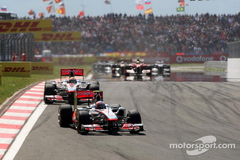 Jenson Button, McLaren Mercedes y Lewis Hamilton, McLaren Mercedes, MP4-26