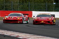 #71 AF Corse Ferrari F458 Italia: Jaime Melo, Toni Vilander and #72 AF Corse Ferrari F430: Robert Kauffman, Rui Aguas, Michael Waltrip