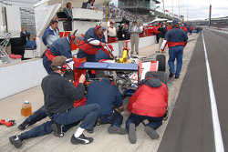 A.J. Foyt Enterprises crew members at work