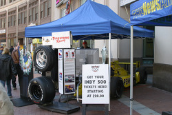 Indy 500 Fan Tour Jayco RV in downtown Indianapolis