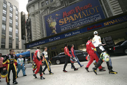 Drivers for the 89th Indianapolis 500 head to Times Square