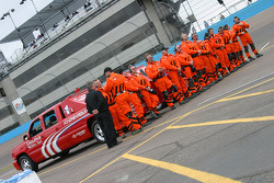 Safety crew ready for the race