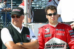 Rick Mears and Sam Hornish Jr.