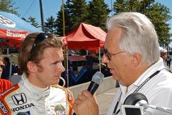 Dan Wheldon interviewed by Mike Paz