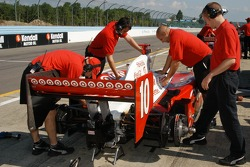 The Darren Manning car is adjusted