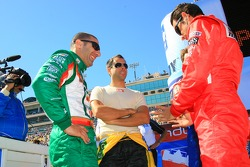 Tony Kanaan, Vitor Meira and Helio Castroneves