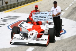 Pole winner Helio Castroneves