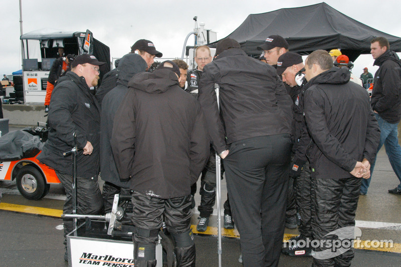L'équipe Penske prête pour l'action de piste