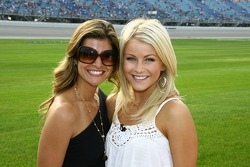 Ali, Helio Castroneves' fiancée, and Julianne Hough, Helio Castroneves' dancing with the stars partner