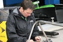 Rahal Letterman Racing crew member at work