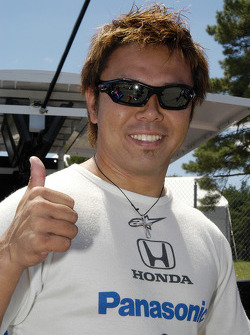 Kosuke Matsuura was having fun before the race