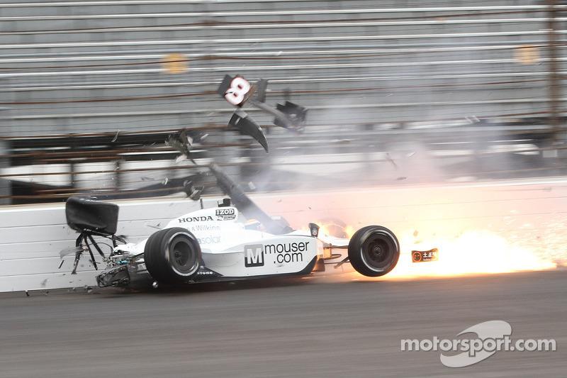 Ho-Pin Tung, Dragon Racing crashes