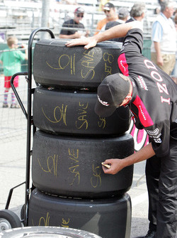 A Team Penske team member writes which tires to save