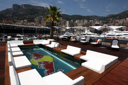 The view from the Red Bull Energy Station, with the pool
